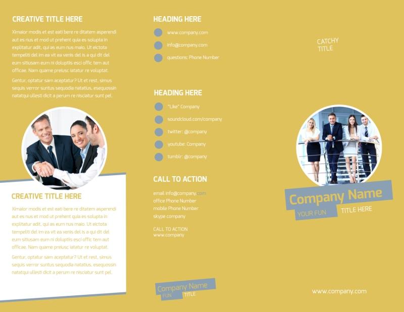 Top PR Firm Brochure Template Preview 2