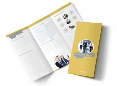 Top PR Firm Tri-Fold Brochure Template preview