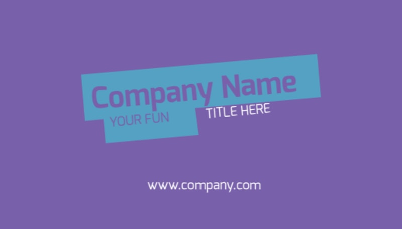 Party Activities Business Card Template Preview 2