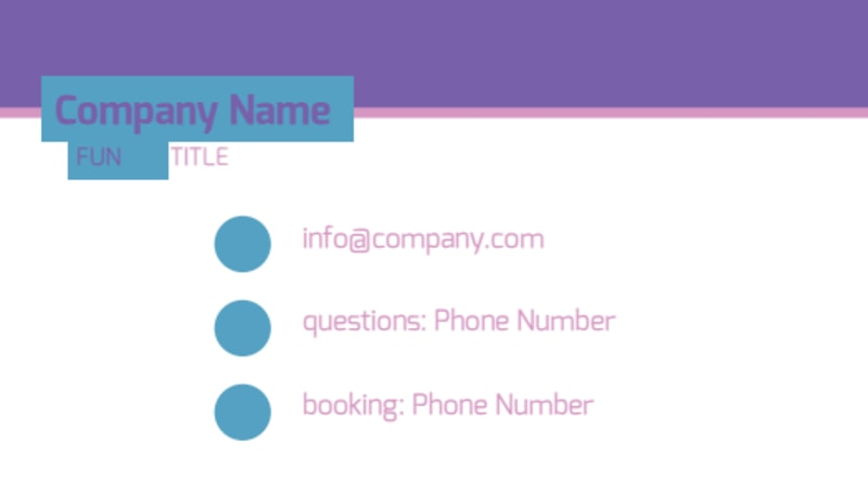 Party Activities Business Card Template Preview 3