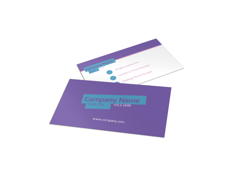 Party Activities Business Card Template Preview 1