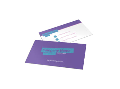 Party Activities Business Card Template