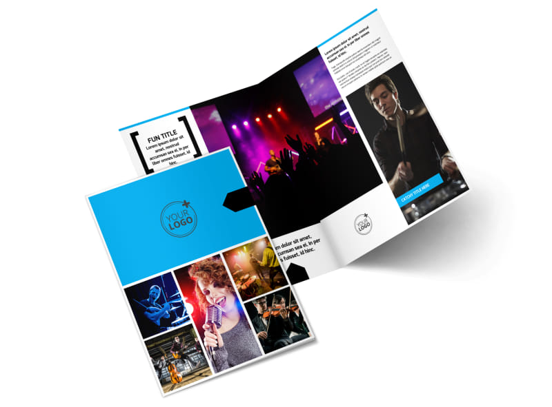 Music Band Info Bi-Fold Brochure Template 2