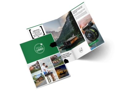 Fishing Lodge Bi-Fold Brochure Template 2