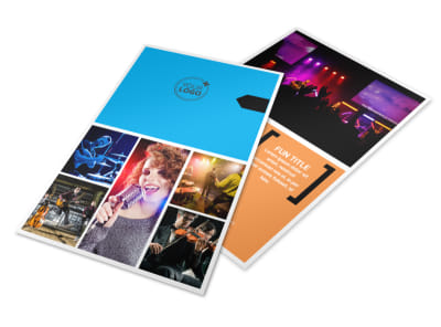 Music Band Info Flyer Template 3