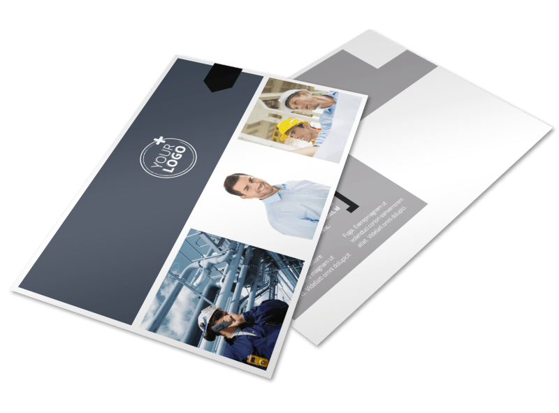 Top Engineering Consultants Postcard Template Preview 1
