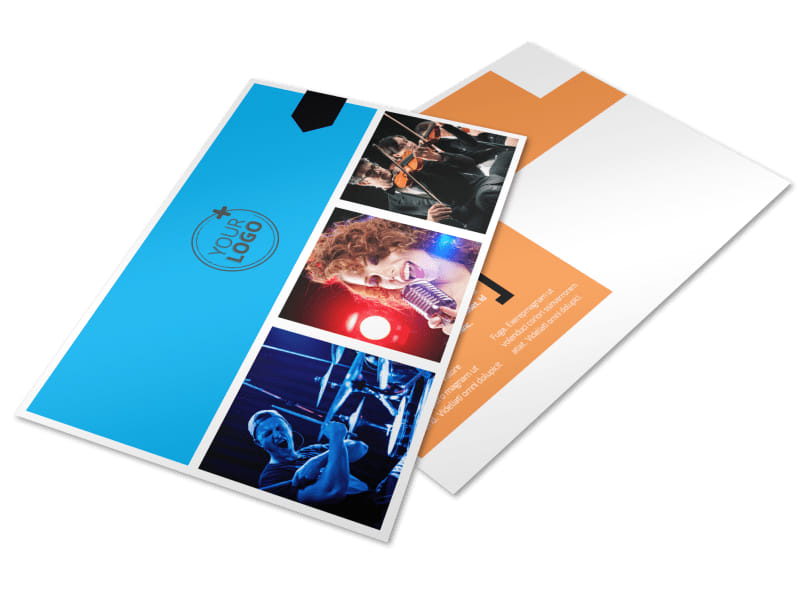 Music Band Info Postcard Template Preview 4