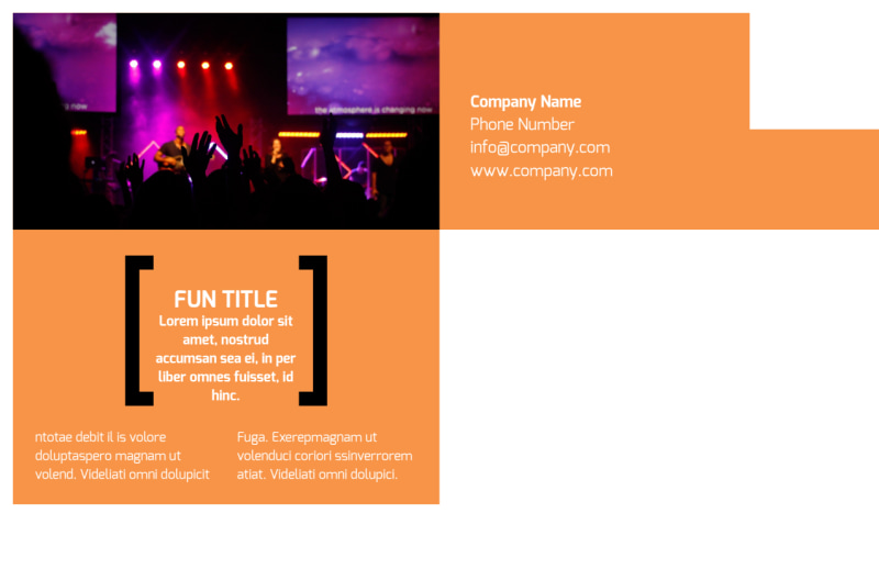 Music Band Info Postcard Template Preview 3