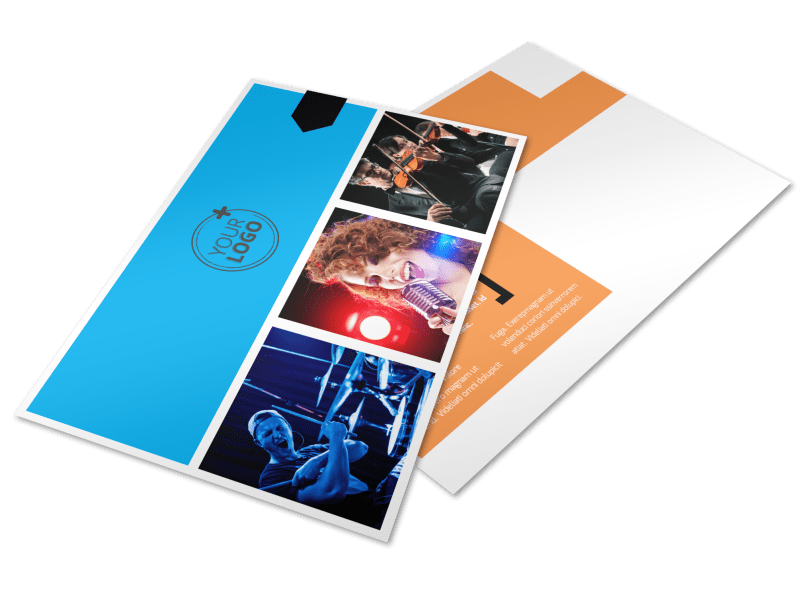 Music Band Info Postcard Template Preview 1