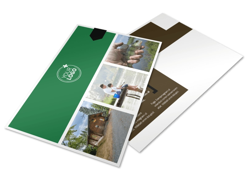 Fishing Lodge Postcard Template Preview 4
