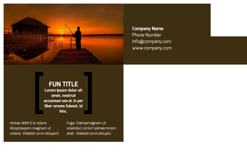 Fishing Lodge Postcard Template Preview 3