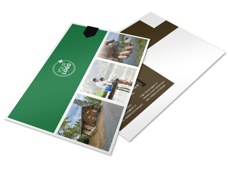 Fishing Lodge Postcard Template Preview 1