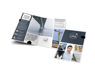 Top Engineering Consultants Bi-Fold Brochure Template preview