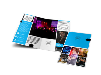 Music Band Info Bi-Fold Brochure Template