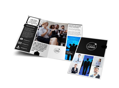 General Business Event Bi-Fold Brochure Template