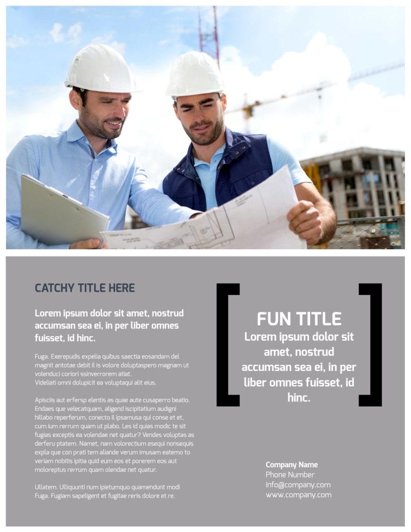 Top Engineering Consultants Flyer Template Preview 3