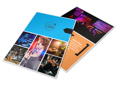 Music Band Info Flyer Template preview
