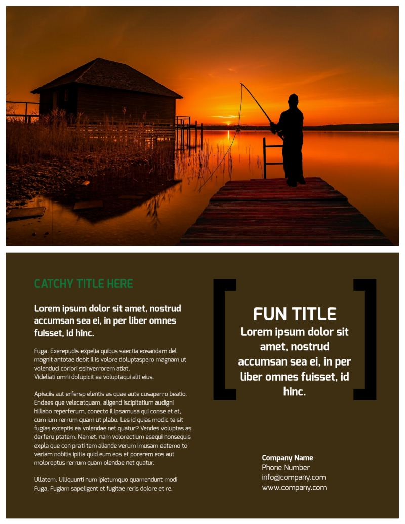 Fishing Lodge Flyer Template Preview 3