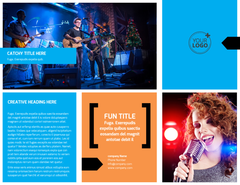 Music Band Info Brochure Template Preview 2