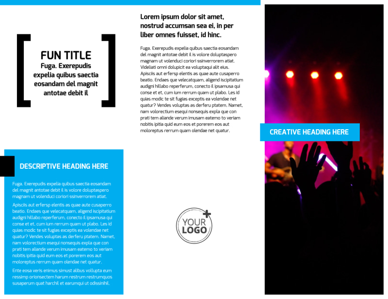 Music Band Info Brochure Template Preview 3
