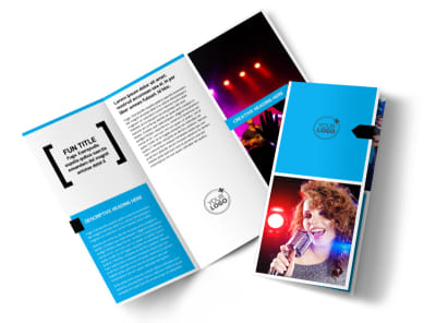 Music Band Info Tri-Fold Brochure Template