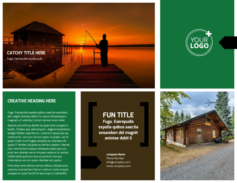 Fishing Lodge Brochure Template Preview 2