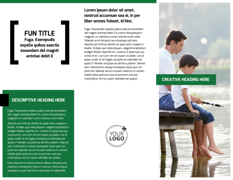 Fishing Lodge Brochure Template Preview 3