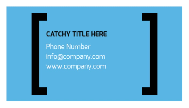 General Business Event Business Card Template Preview 3