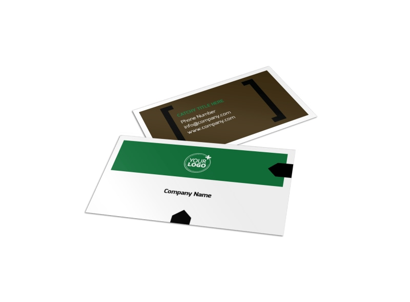 Fishing Lodge Business Card Template