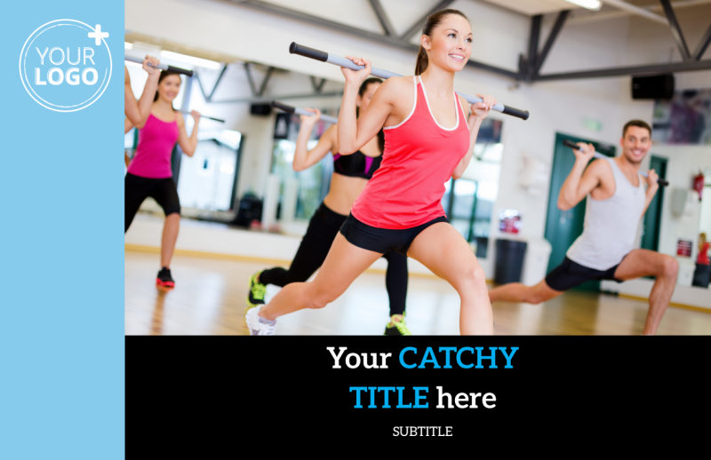 Upscale Fitness Gym Postcard Template Preview 2