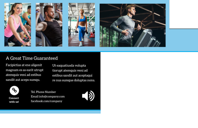 Upscale Fitness Gym Postcard Template Preview 3