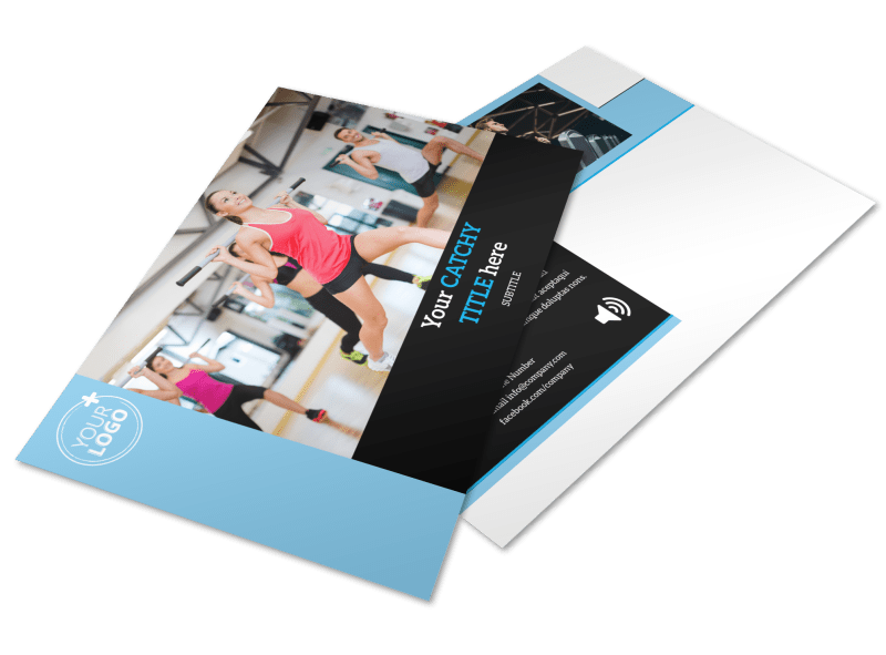 Upscale Fitness Gym Postcard Template Preview 1