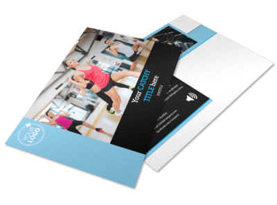 Personal Trainer Postcard Template preview