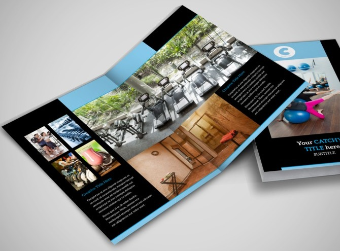 Personal trainer bi fold brochure template for Personal brochure templates