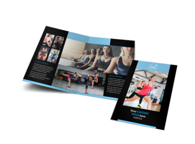 Personal Trainer Bi-Fold Brochure Template preview