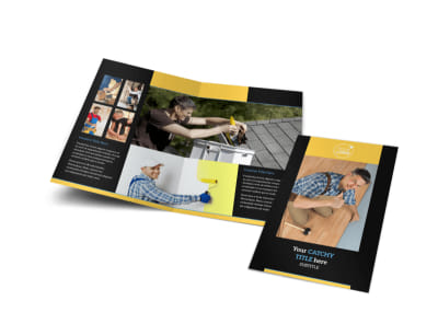 Handyman Services Bi-Fold Brochure Template