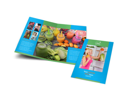 Nutrition Education Bi-Fold Brochure Template preview