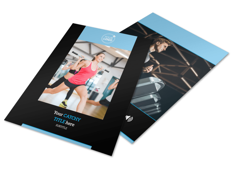 Upscale Fitness Gym Flyer Template Preview 1