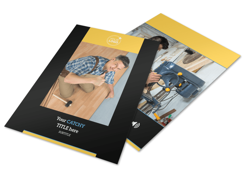 Handyman Service Flyer Template Preview 1