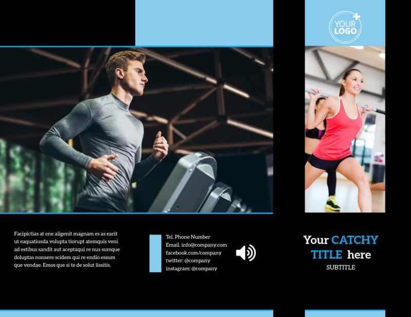 Upscale Fitness Gym Brochure Template Preview 2