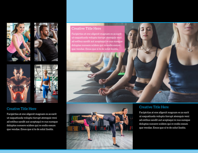 Upscale Fitness Gym Brochure Template Preview 3