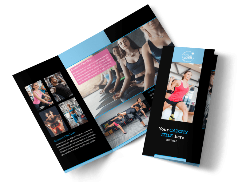 Upscale Fitness Gym Brochure Template Preview 1