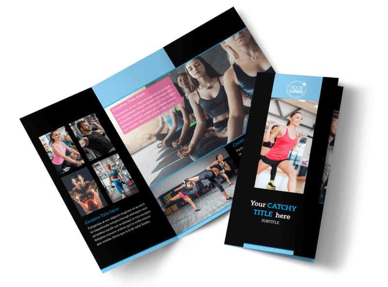 Upscale fitness gym brochure template mycreativeshop for Personal brochure templates