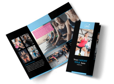 Personal Trainer Tri-Fold Brochure Template preview