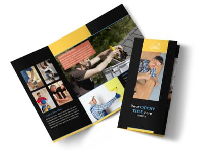 Handyman Services Tri Fold Brochure Template preview