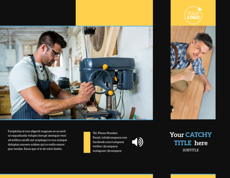 Handyman Service Brochure Template Preview 2