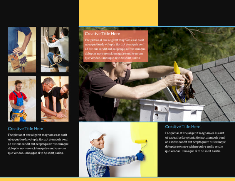 Handyman Service Brochure Template Preview 3