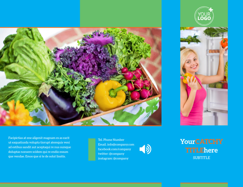 Nutrition Education Brochure Template Preview 2
