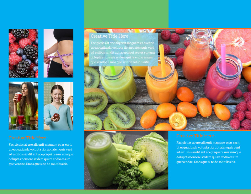 Nutrition Education Brochure Template Preview 3