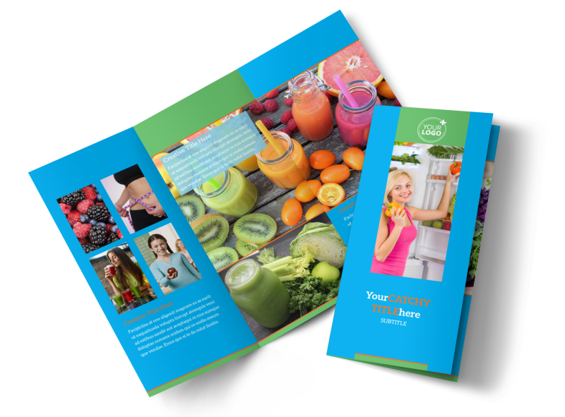 Nutrition Education Brochure Template Preview 1